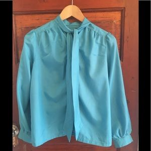 Silk Button Long Sleeve Blouse